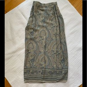 Dresses & Skirts - Blue/grey paisley fully lined wrap maxi skirt